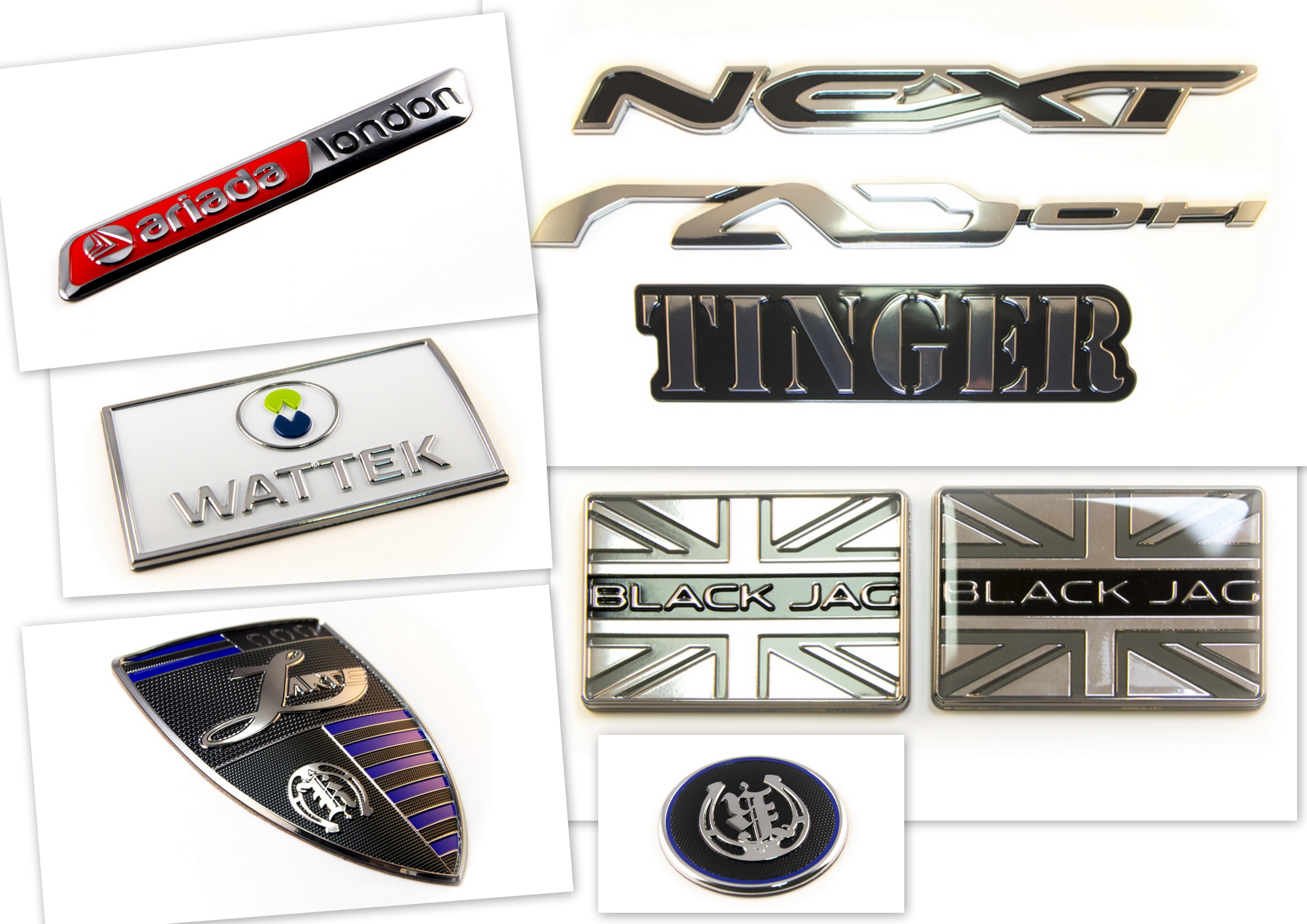 металлизированные эмблемы